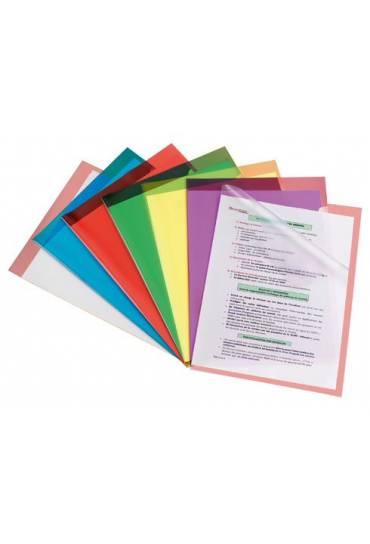 Dossier uñero PVC A4 200 mc violeta 100 unidade