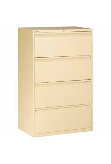 Archivador metalico 80 cm 4 cajones beige