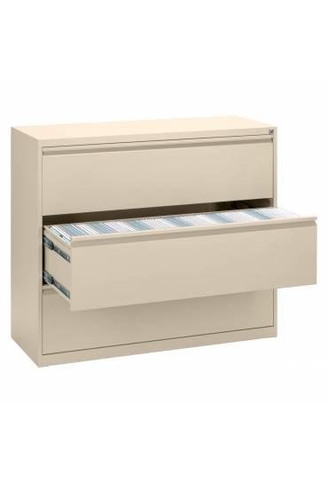 Archivador metalico maxi 120cm 3 cajones beige