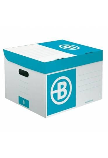 Contenedor de archivo cartón JMB mini azul