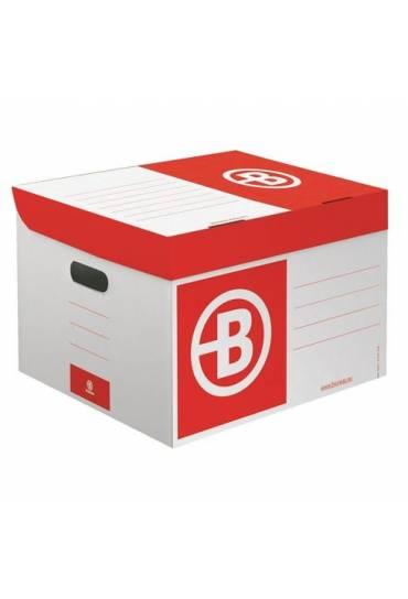 Contenedor de archivo cartón JMB mini burdeos