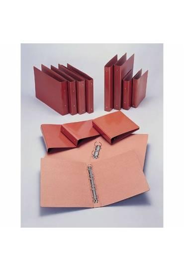 Carpeta carton cuero folio natural 25 mm 4 anillas