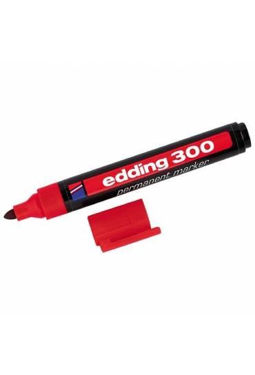 Marcador Edding 300 punta ojiva rojo