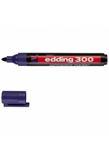 Marcador Edding 300 punta ojiva azul