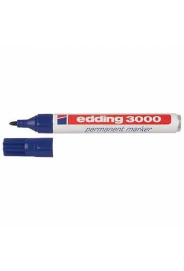 Marcador Edding 3000 punta ojiva azul