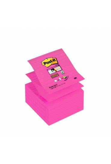 Bloc Post It Z sticky 101x101 rallado fucsia 10 un