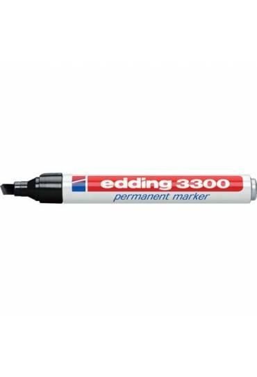 Marcador Edding 3300 punta biselada negro