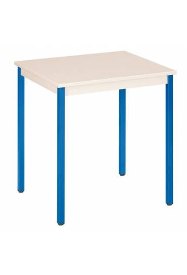 Mesa eco 70x60 beige patas azul