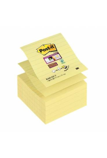 Bloc Post It Z sticky 101x101 amarillo rallado 10