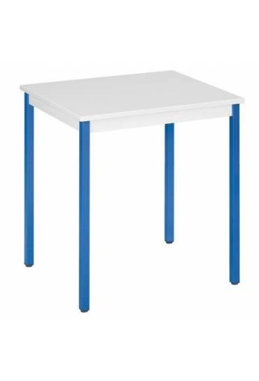 Mesa eco 70x60 gris patas azul