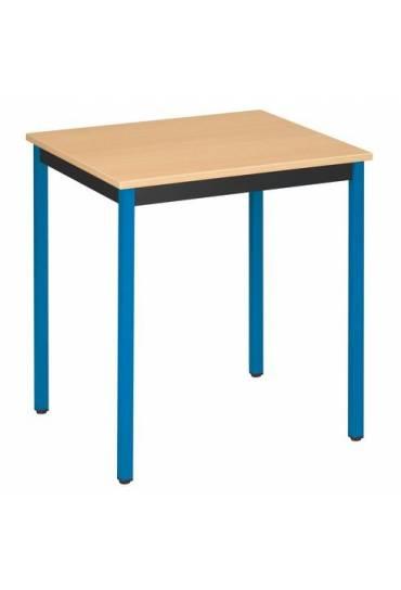 Mesa eco 70x60 haya patas azul