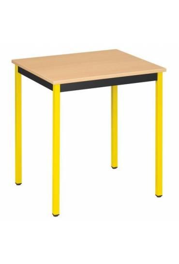 Mesa eco 70x60 haya patas amarillo