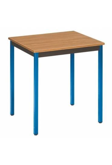 Mesa eco 70x60 teka patas azules