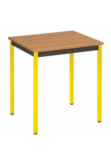Mesa eco 70x60 teka patas amarillo