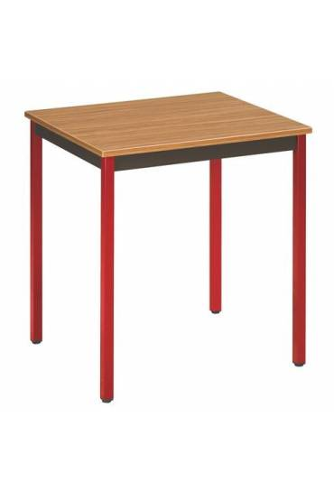 Mesa eco 70x60 teka patas rojo