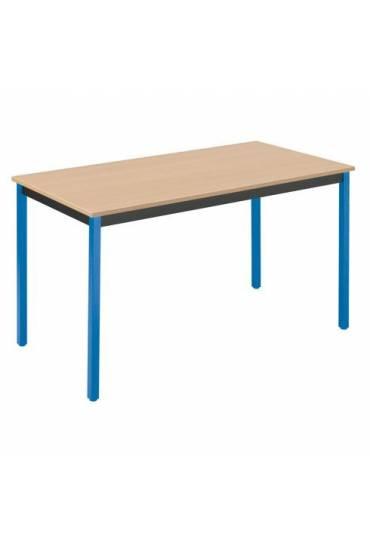 Mesa eco 120x60 haya patas azul