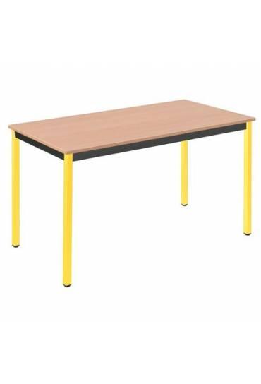 Mesa eco 120x60 haya patas amarillo