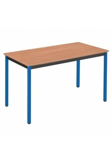 Mesa eco 120x60 teka patas azul