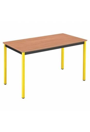 Mesa eco 120x60 teka patas amarillo
