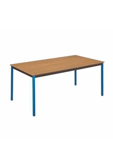 Mesa eco 140x70 teka patas azules