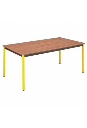Mesa Eco 140 x 70 Teca patas amarillas