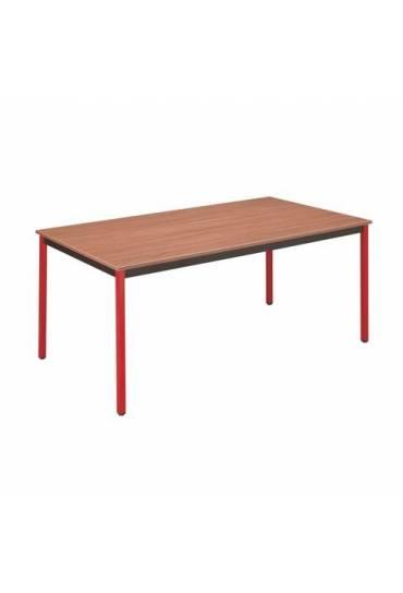 Mesa eco 140x70 teka patas rojas