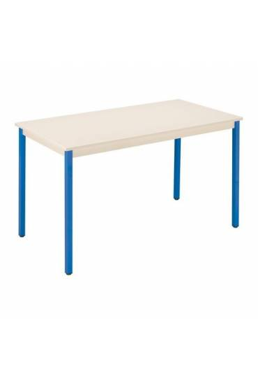 Mesa eco 160x80 beige patas azul