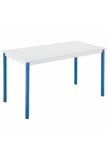 Mesa eco 160x80 gris patas azul