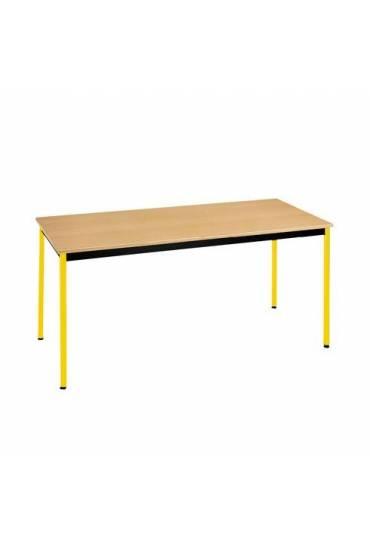 Mesa eco 160x80 haya patas amarillo