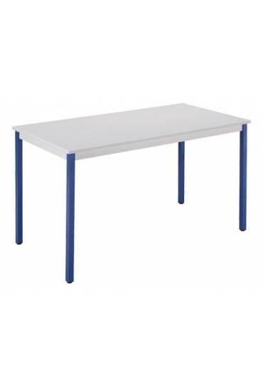 Mesa eco 180x80 gris patas azul