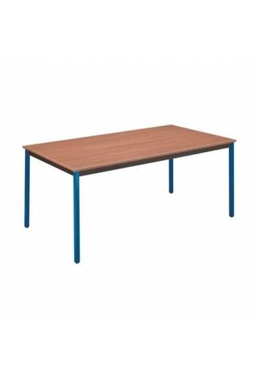 Mesa eco 180x80 color teka patas azules