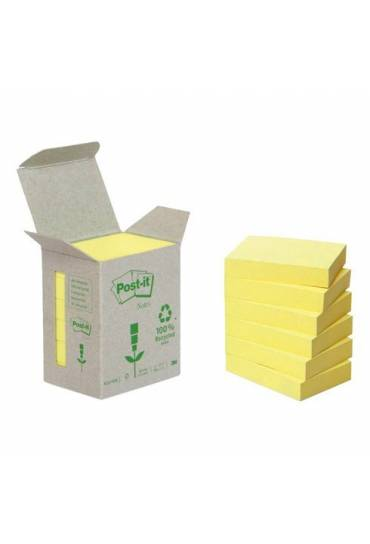 Bloc notas Post It recicladas 38x51 caja 6 unds