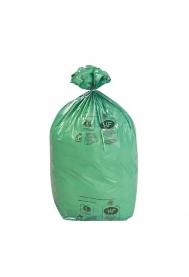 Bolsas basura ecológicas 110l verdes, 200 unds