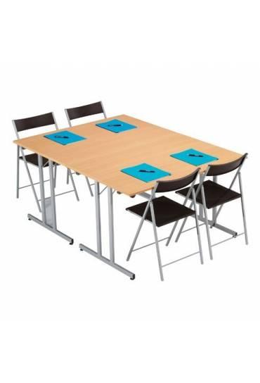 Mesa plegable multiusos 120 x 80cm Haya patas alum