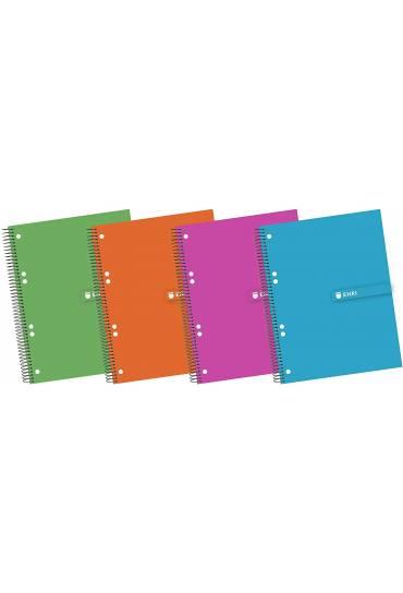 Cuaderno Enri  A5 140 hojas 60gr 5x5 surtidos