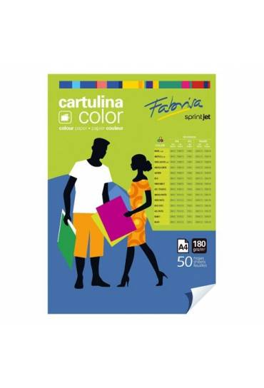 Cartulina Fabrisa A4 180gr amarillo pastel  50 und