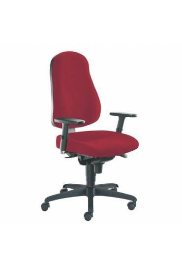 Silla  ruedas oficina june rojo ignifuga