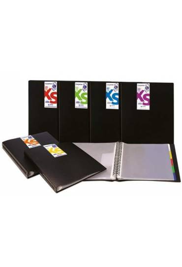 Carpeta 20 fundas IN-OUT XS negra Grafoplas