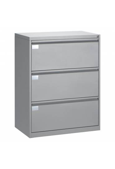 Archivador metalico 80 cm 3 cajones aluminio