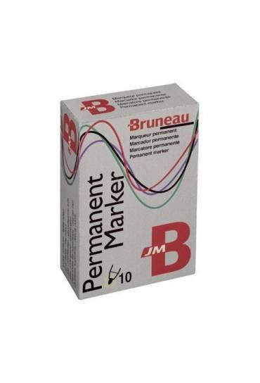 Marcador permanente Bruneau surtido 10 unidades
