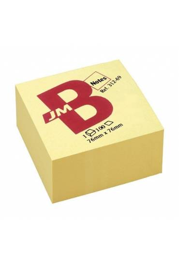 Cubo 400 notas amarillo 76x76 jmb
