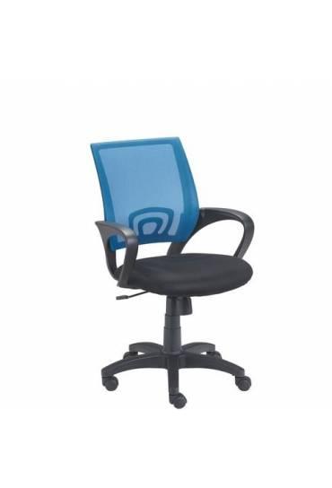 Silla oficina Spring respaldo malla azul