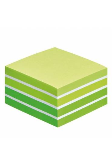 Cubo notas post-it 450 h verde acuarela