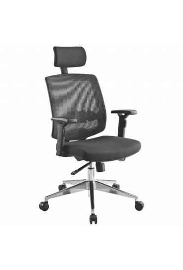 Silla de oficina ergonomica Izy negra