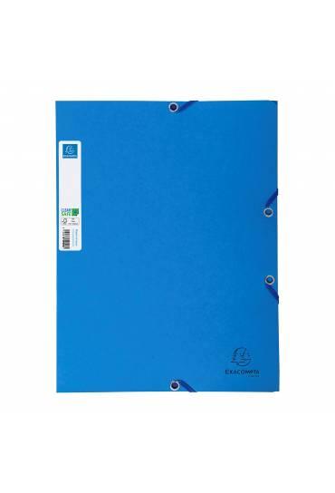 Carpeta antibacteriana CleanSafe 3 solapas azul