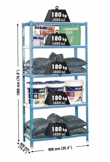 Estanteria metalica sin tornillos 1800x900x400