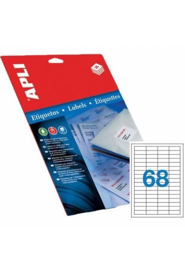 Etiquetas 48,5x16,9 caja 100 hojas Apli 1282