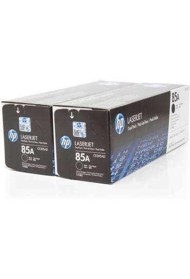 Toner HP Laserjet Nº85A negro Pack 2 unidades CE285AD
