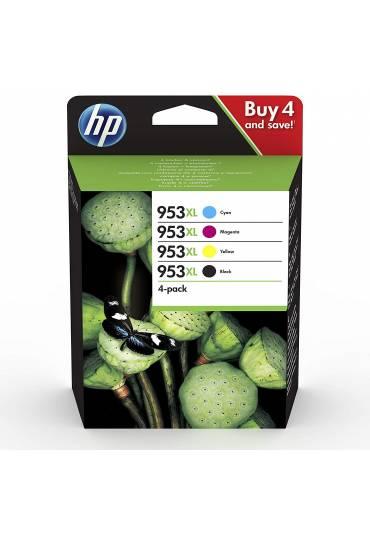 Cartucho HP Nº953XL alta capacidad Multipck 4 colores