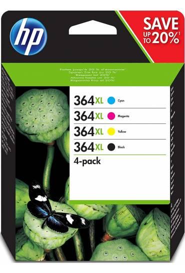 Cartucho HP Nº364XL alta capacidad Pack 4 colores N9J74AE